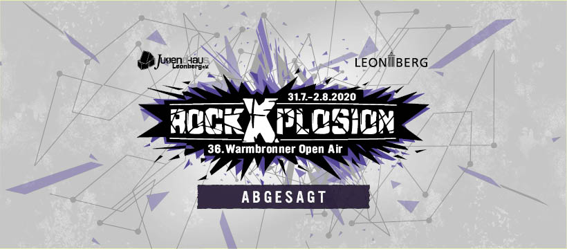 ABSAGE rockXplosion 2020