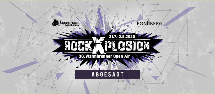 ABSAGE rockXplosion 2020