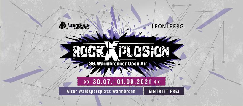 rockXplosion 2021 - 30. Juli bis 01. August 2021