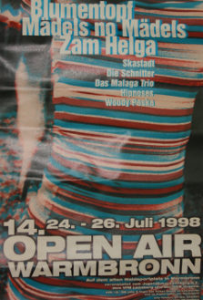 14. Plakat 1998 Open Air Warmbronn